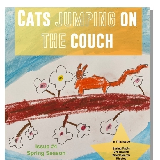 Cats Jumping on the Couch